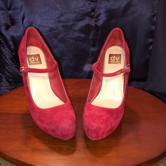 Dolce Vita Shoes - Dolce Vita Red Suede Heels